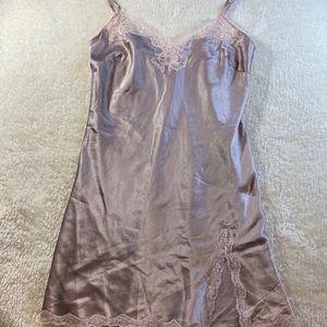 Satin & lace slip dress size:S/P